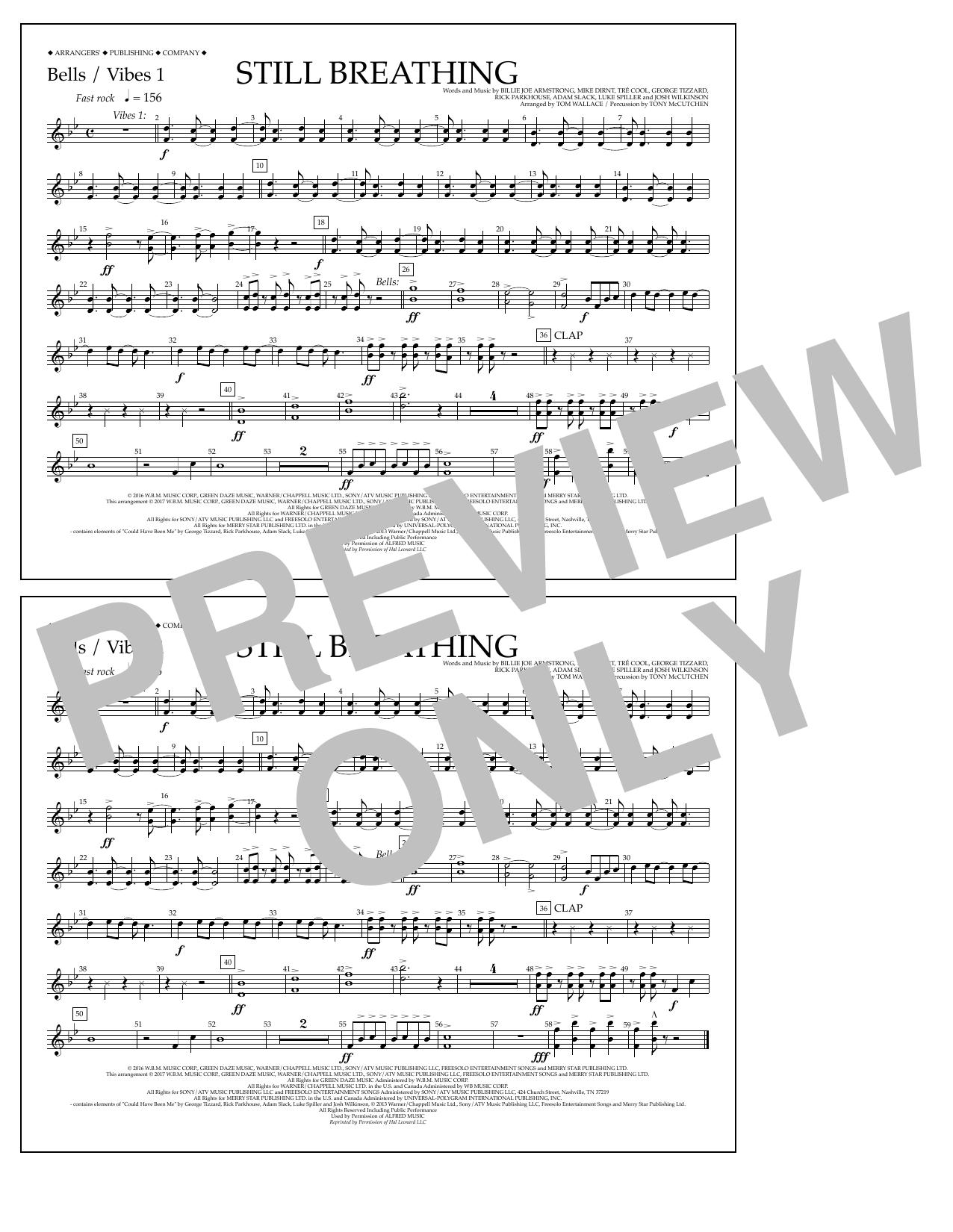 Still Breathing - Bells/Vibes 1 Sheet Music