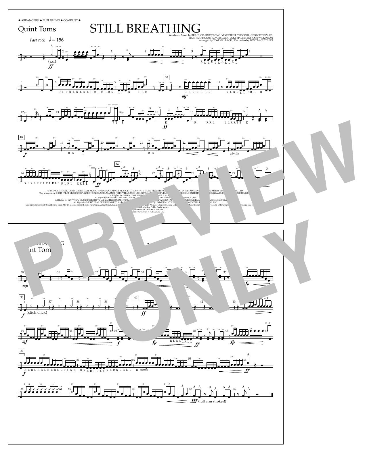 Still Breathing - Quint-Toms Sheet Music