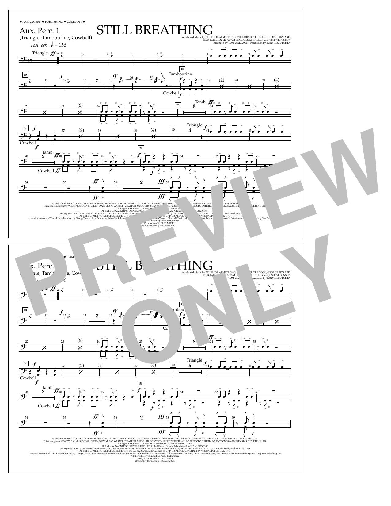 Still Breathing - Aux. Perc. 1 Sheet Music