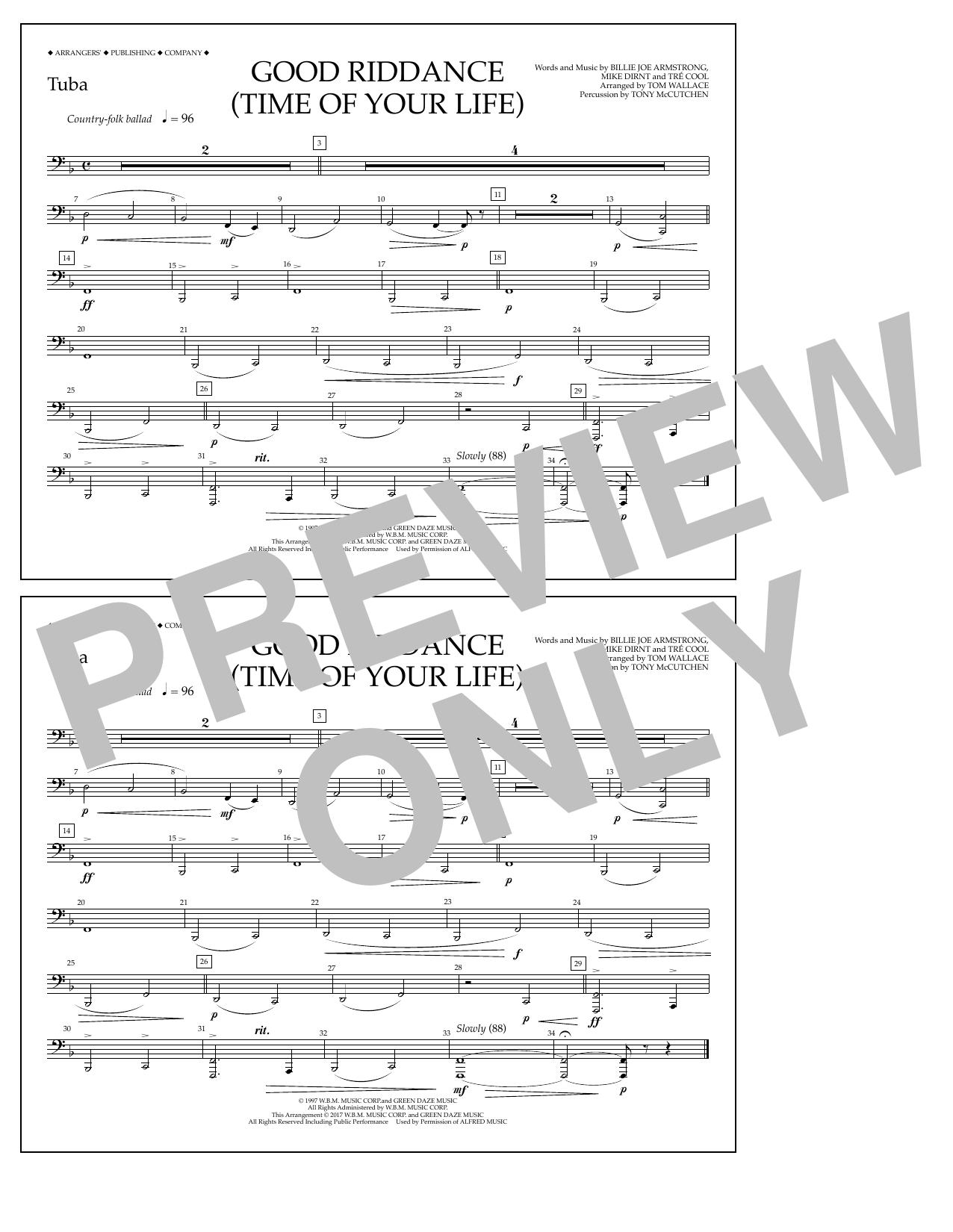 Good Riddance (Time of Your Life) - Tuba Sheet Music