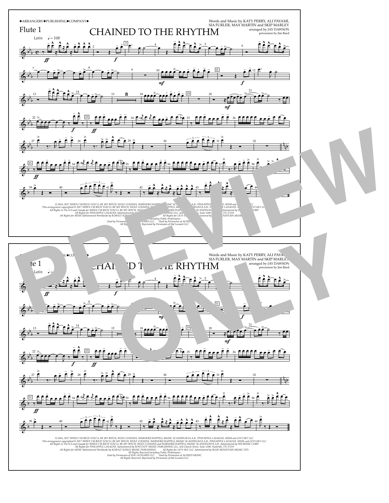 Chained to the Rhythm - Flute 1 Sheet Music