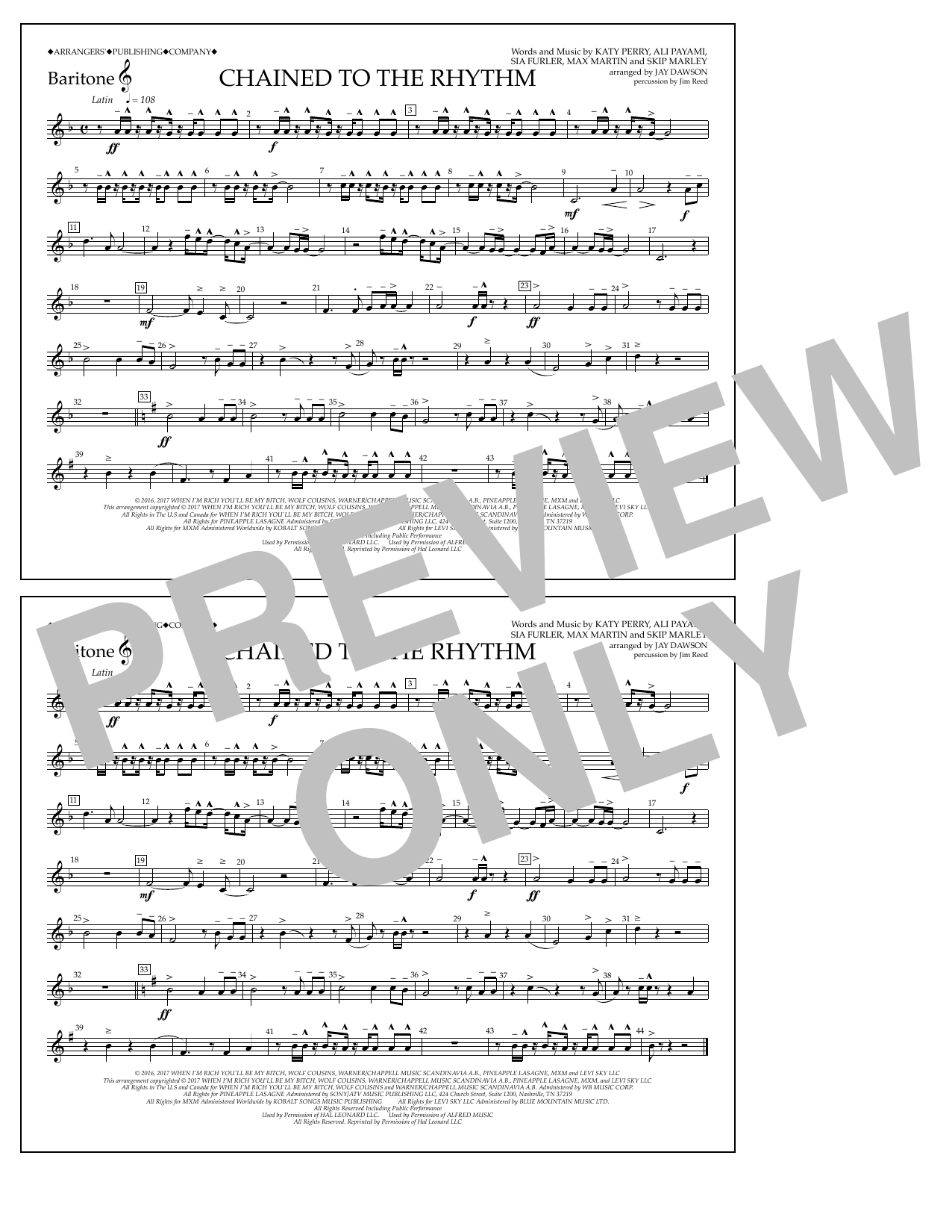 Chained to the Rhythm - Baritone T.C. Sheet Music