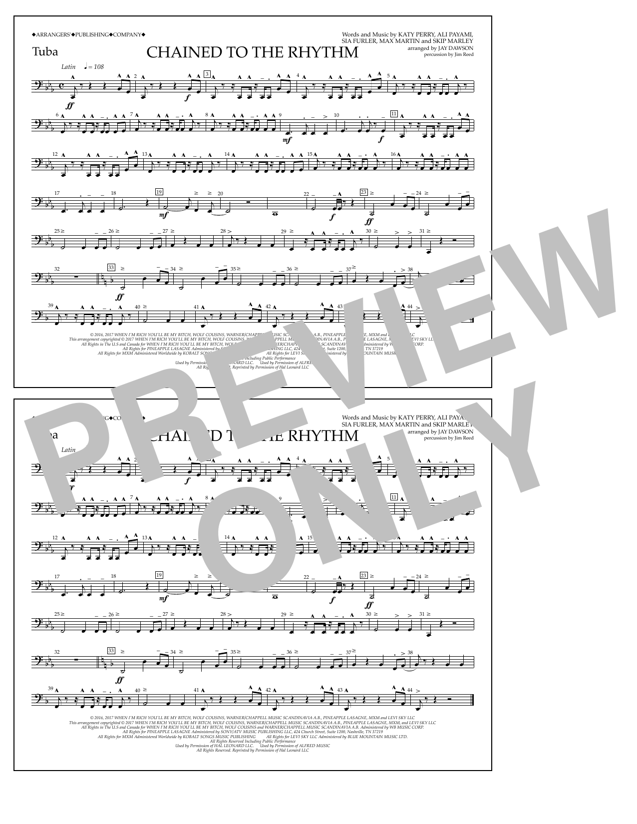Chained to the Rhythm - Tuba Sheet Music