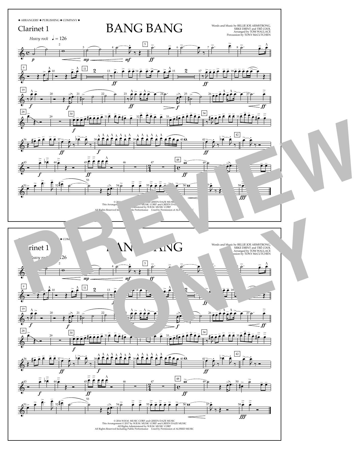 Bang Bang - Clarinet 1 Sheet Music