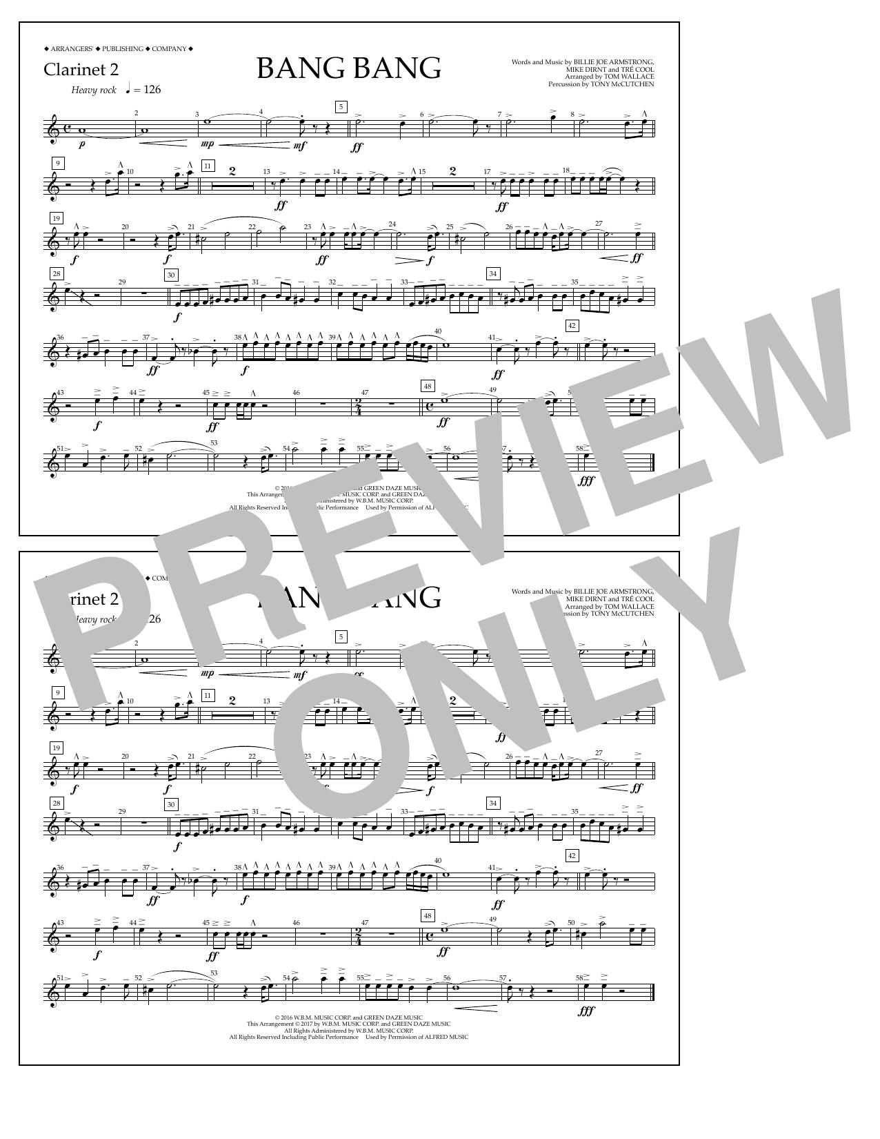 Bang Bang - Clarinet 2 Sheet Music