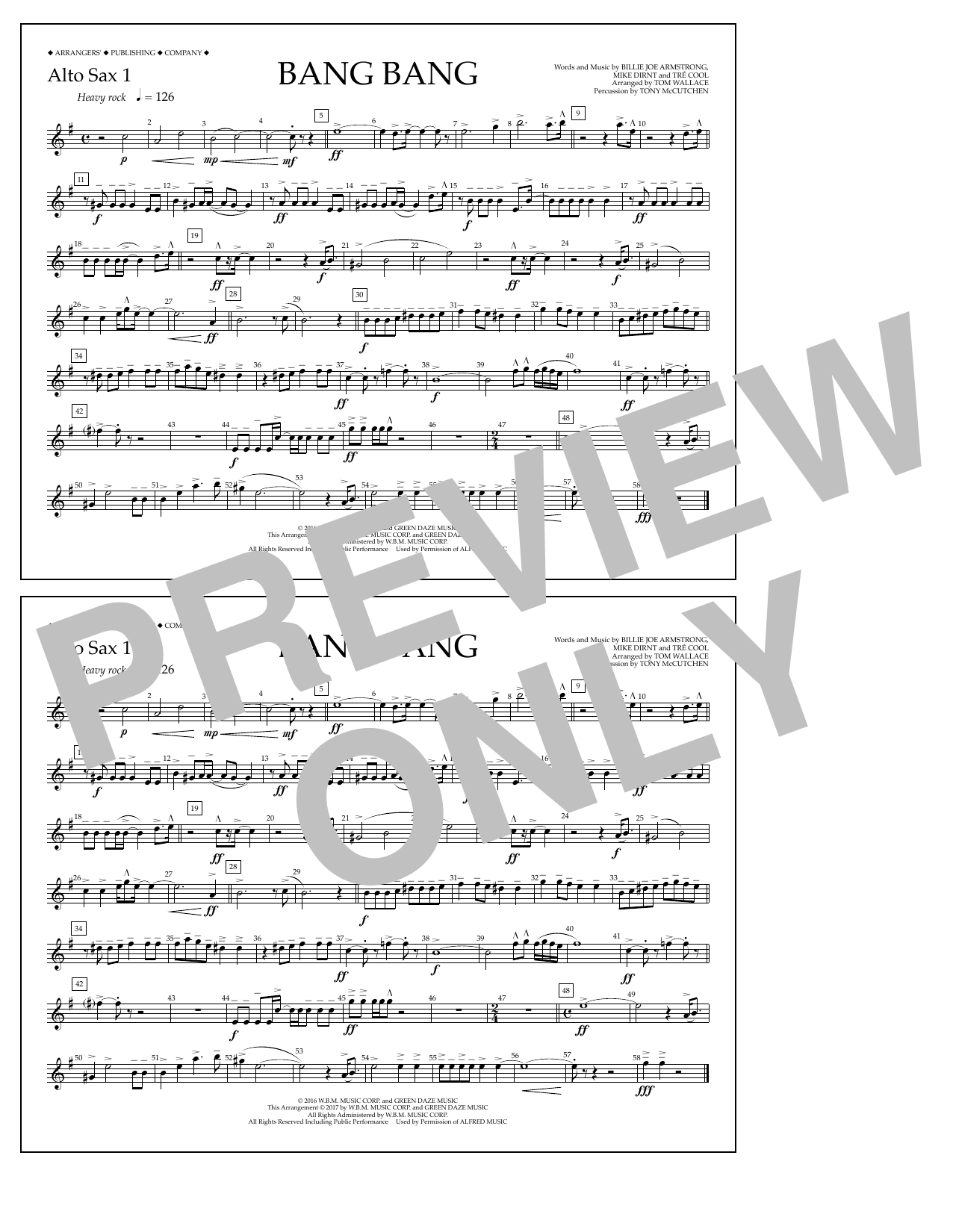 Bang Bang - Alto Sax 1 Sheet Music
