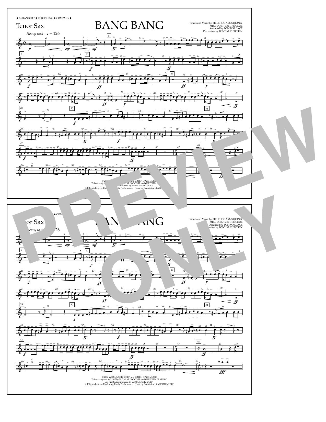 Bang Bang - Tenor Sax Sheet Music
