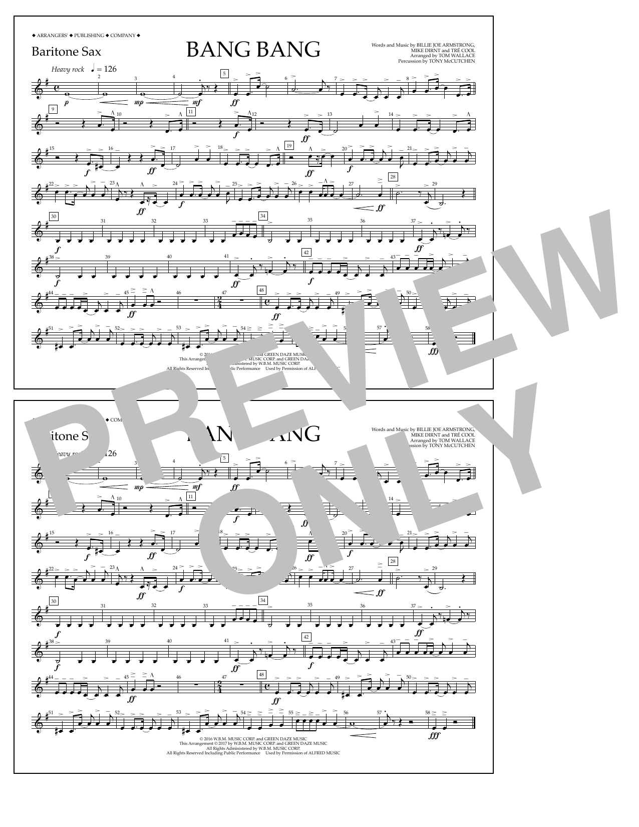 Bang Bang - Baritone Sax Sheet Music