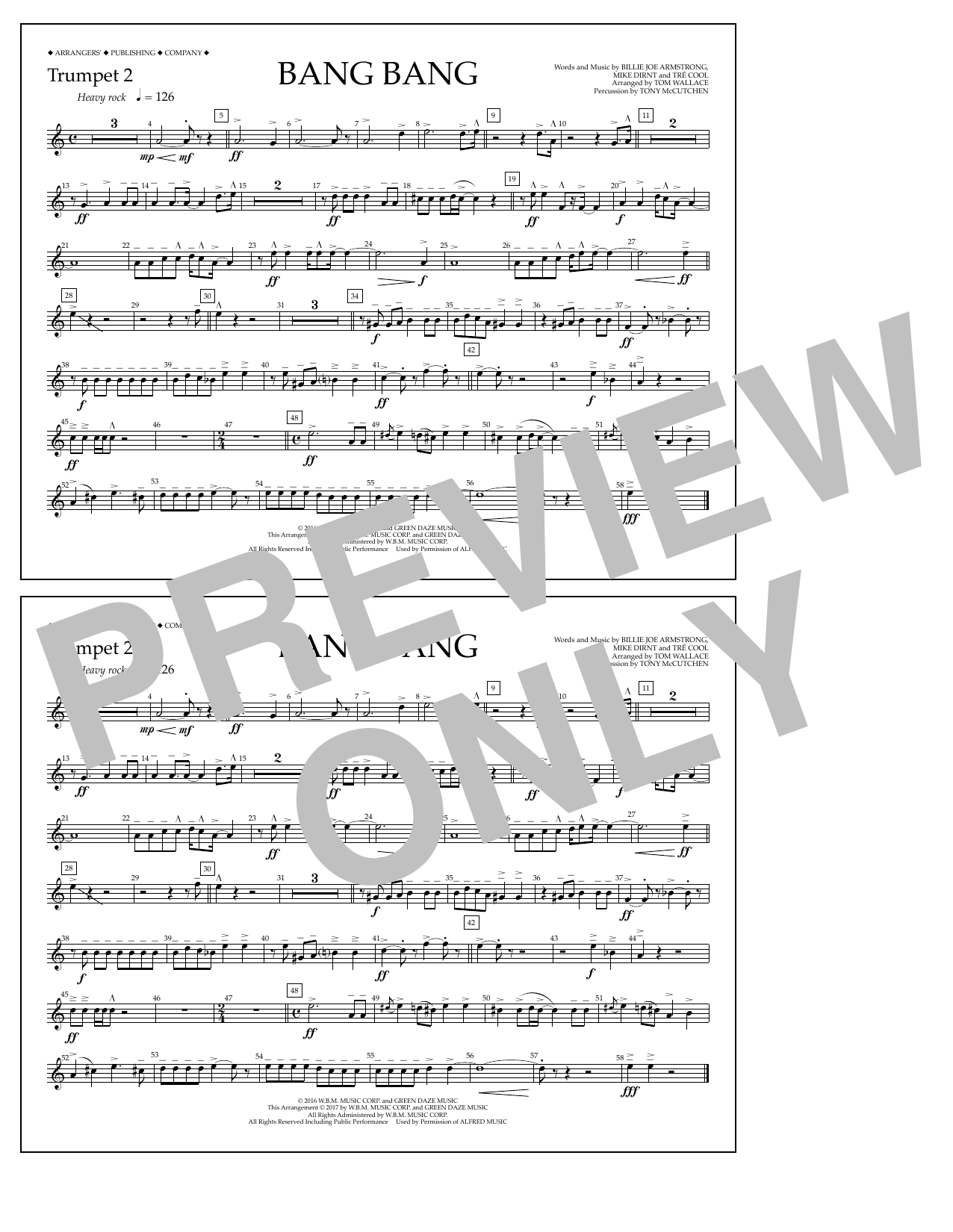 Bang Bang - Trumpet 2 Sheet Music