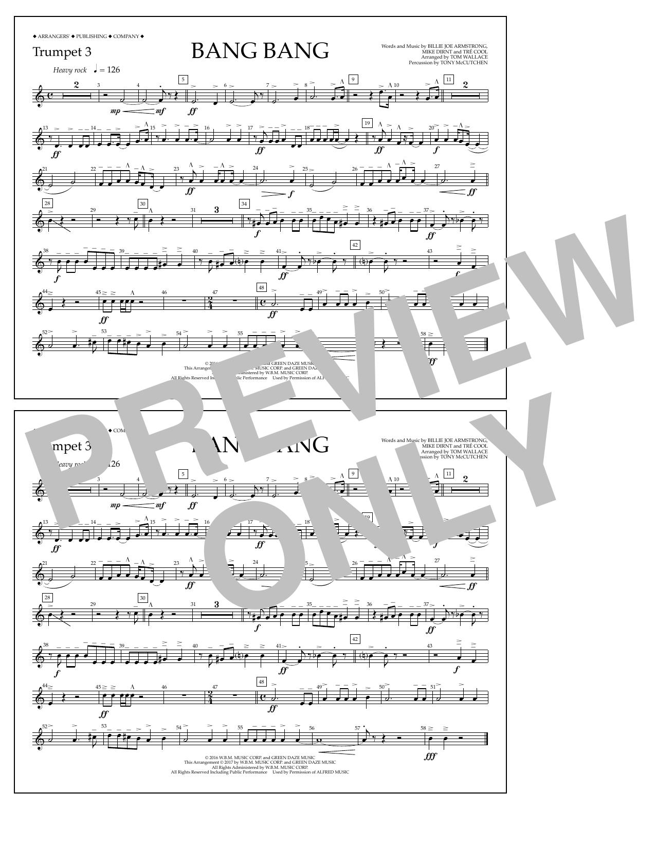 Bang Bang - Trumpet 3 Sheet Music