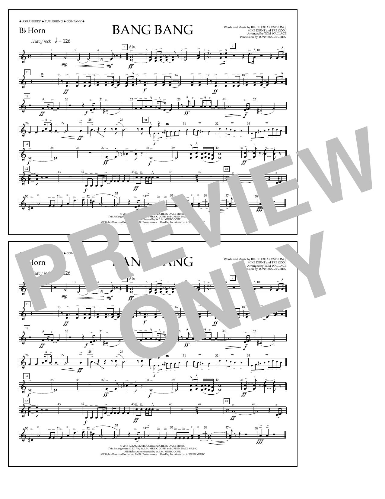 Bang Bang - Bb Horn Sheet Music