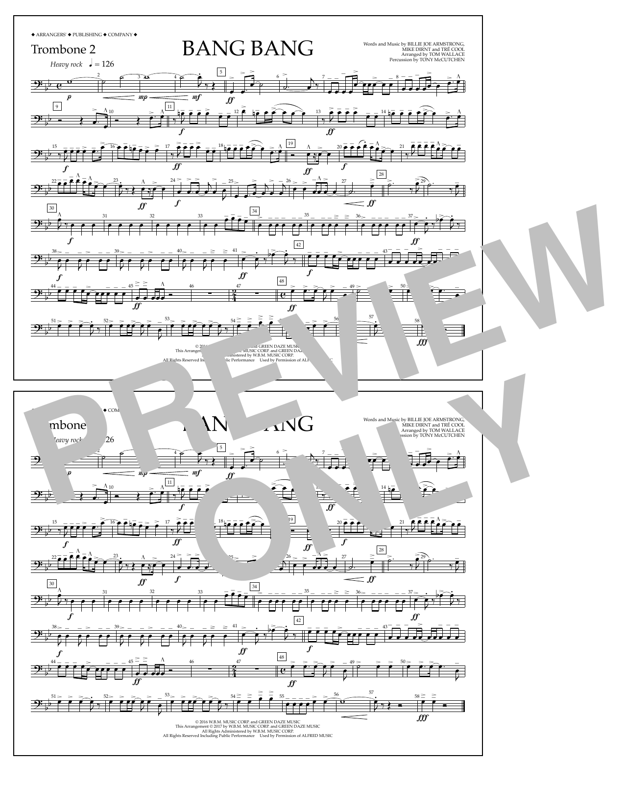 Bang Bang - Trombone 2 Digitale Noten