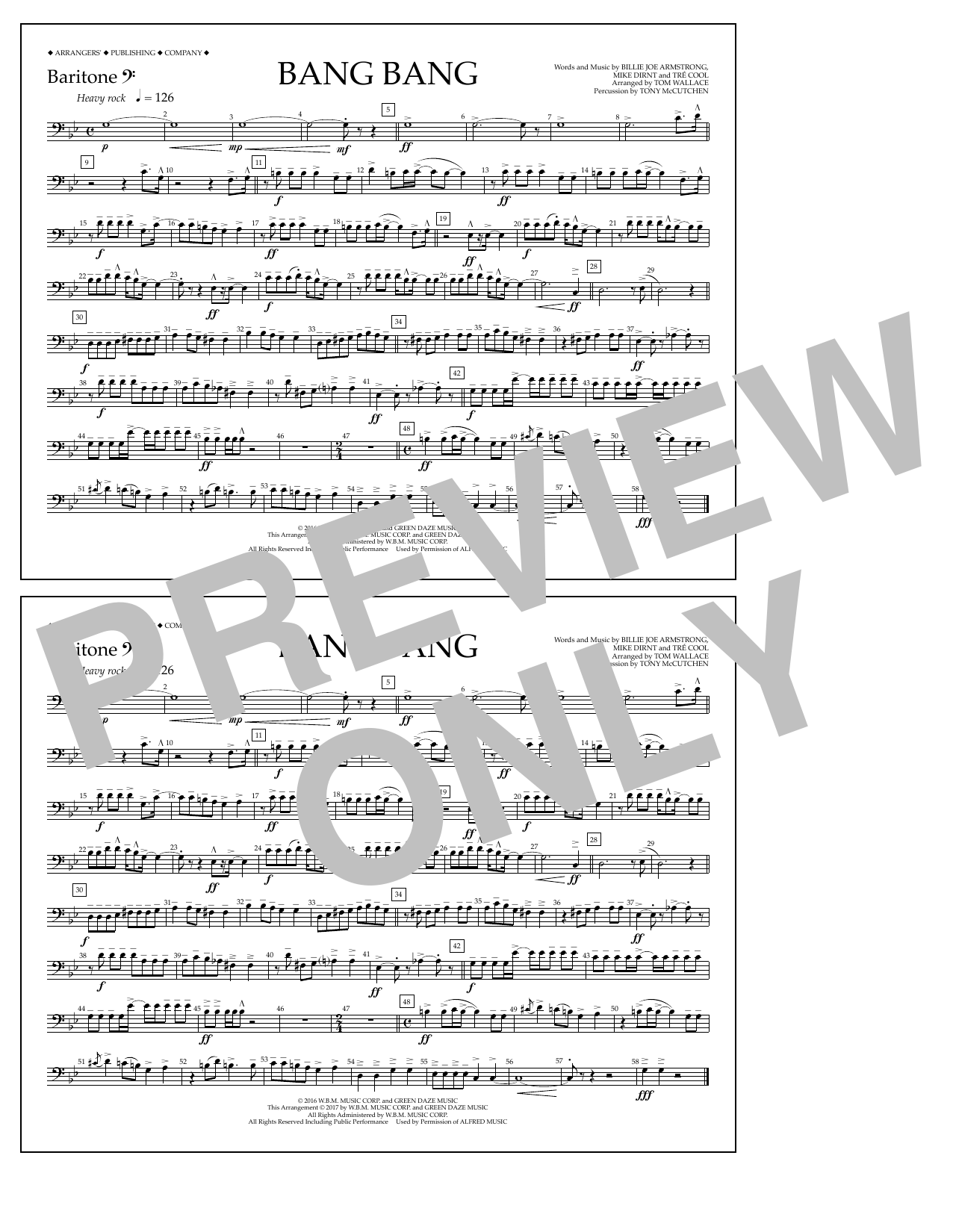 Bang Bang - Baritone B.C. Sheet Music