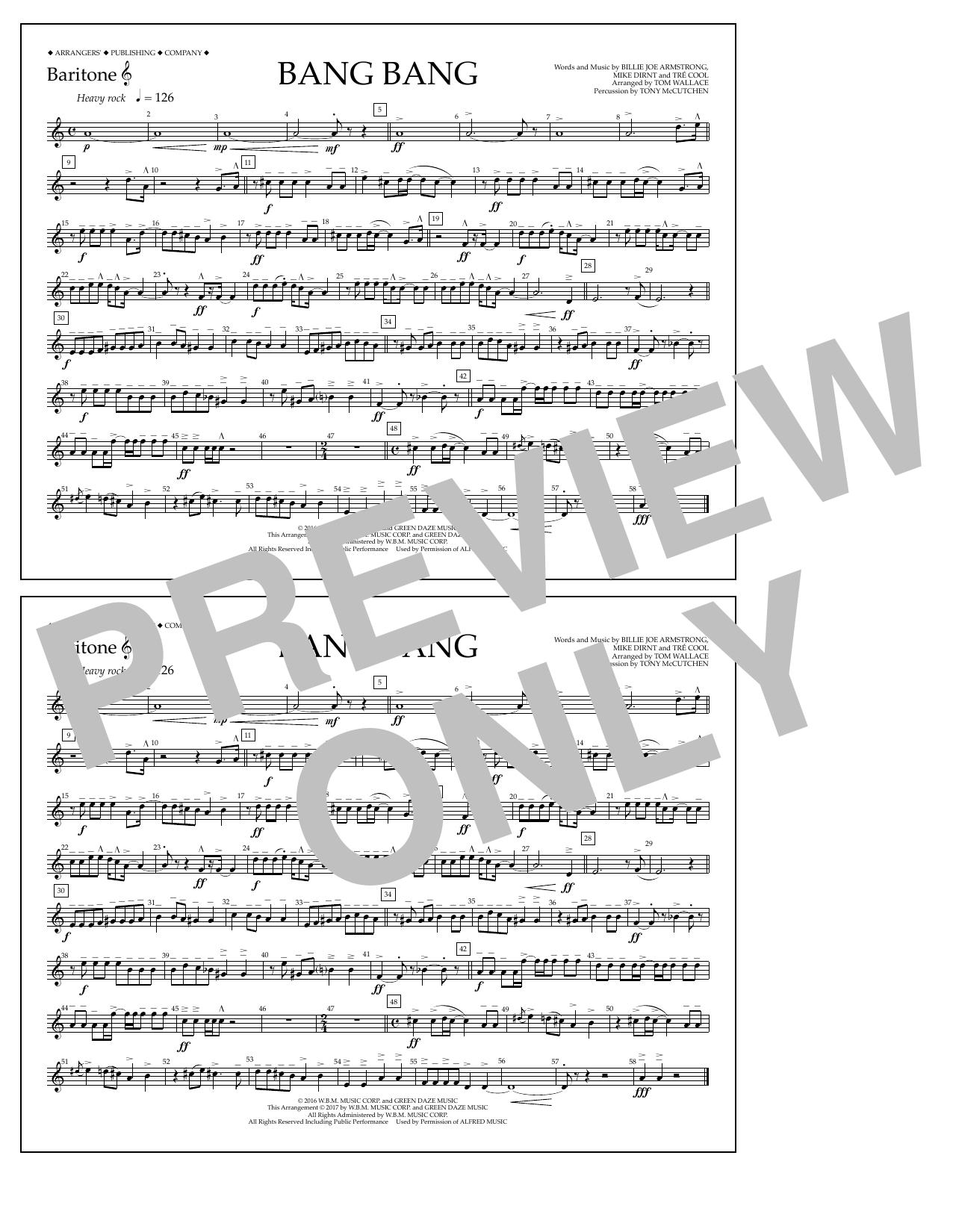 Bang Bang - Baritone T.C. Sheet Music