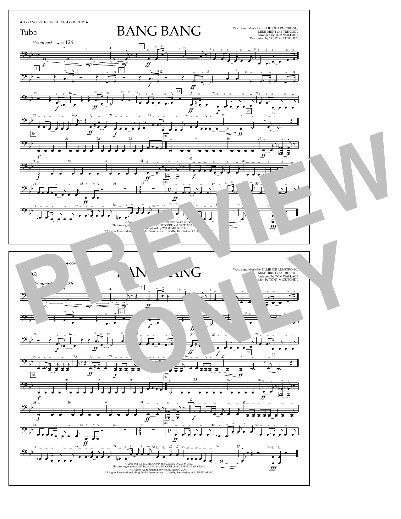 Bang Bang - Tuba Sheet Music