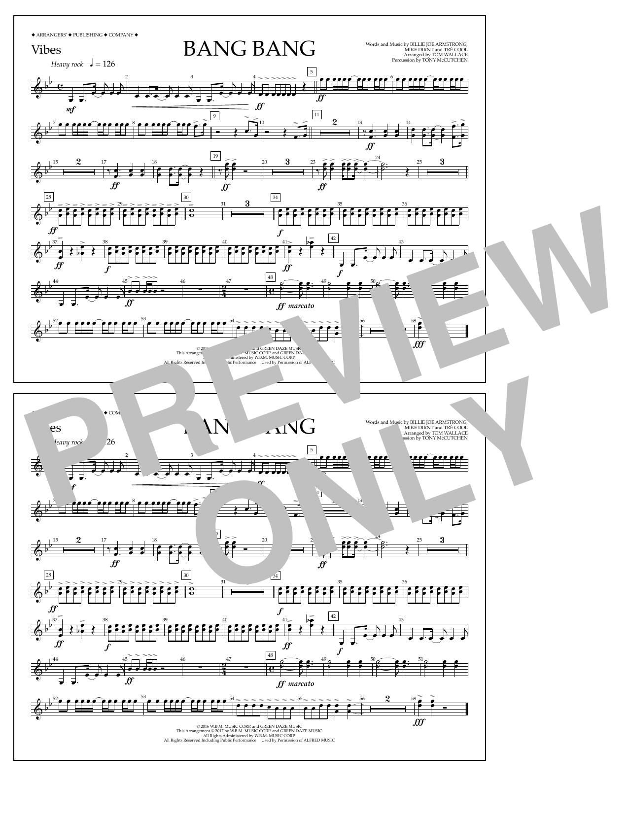 Bang Bang - Vibes Sheet Music