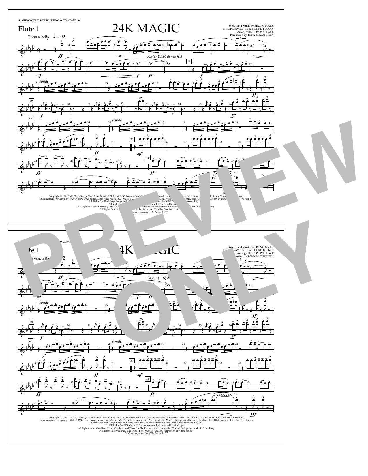 24K Magic - Flute 1 Sheet Music