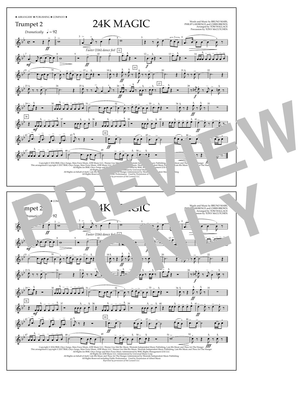 24K Magic - Trumpet 2 Digitale Noten
