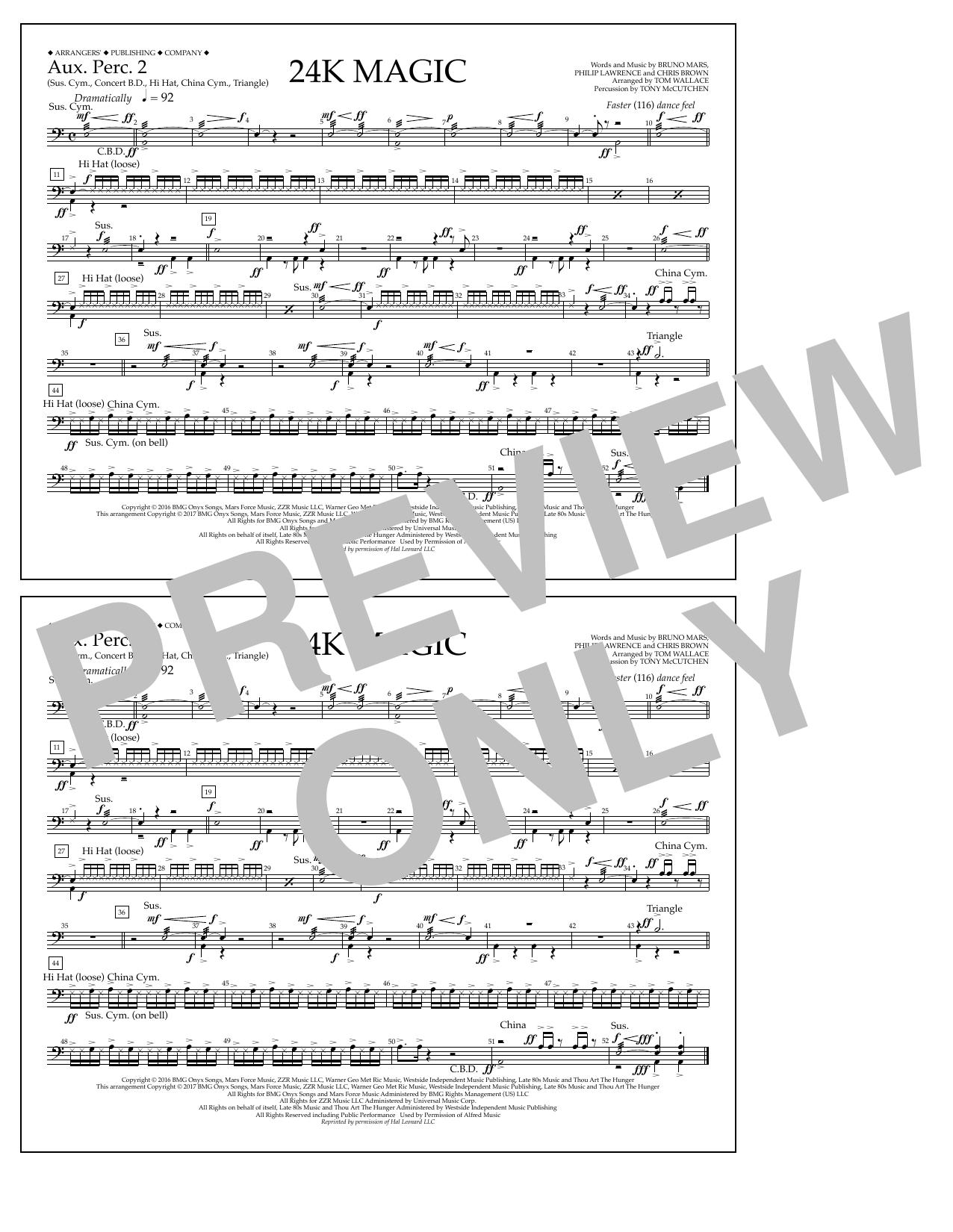 24K Magic - Aux. Perc. 2 Sheet Music