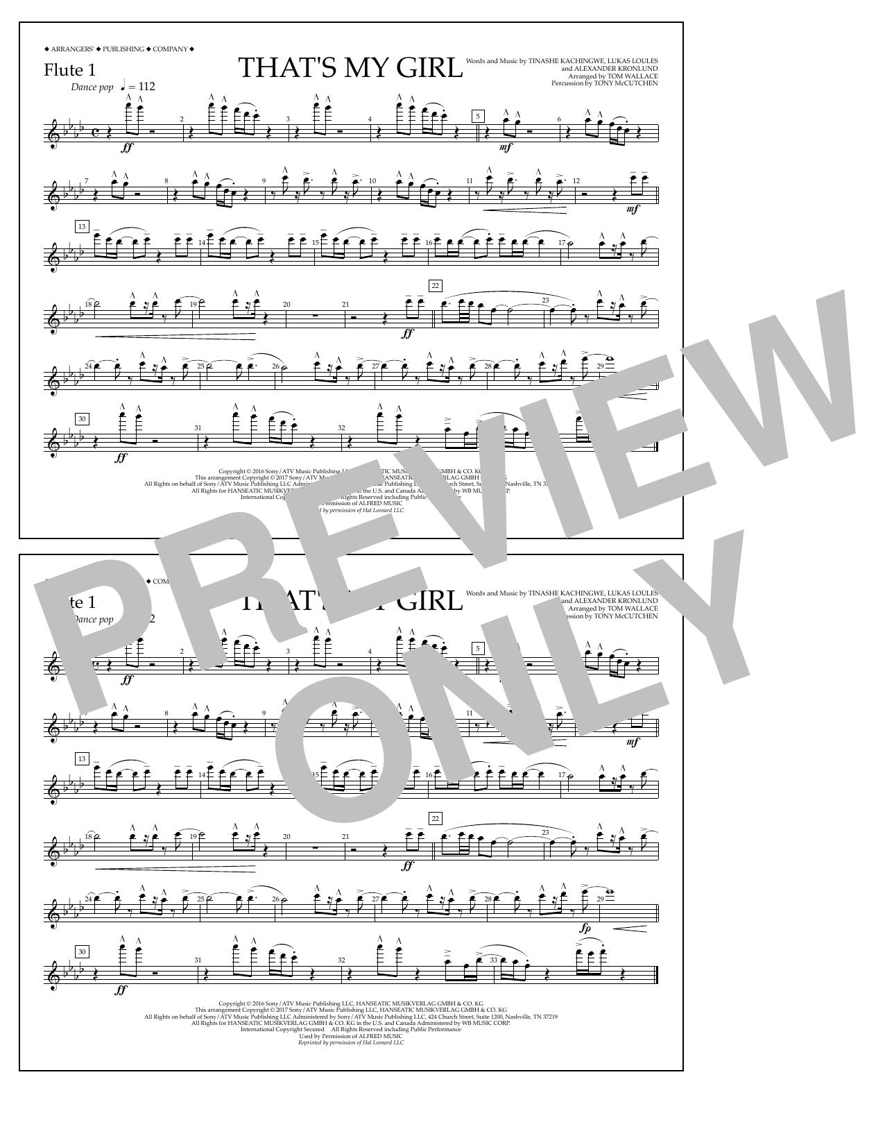 That's My Girl - Flute 1 Sheet Music