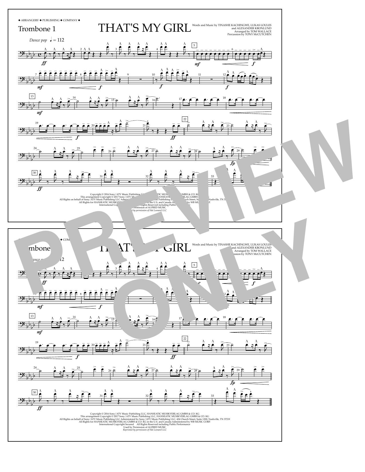 That's My Girl - Trombone 1 Sheet Music