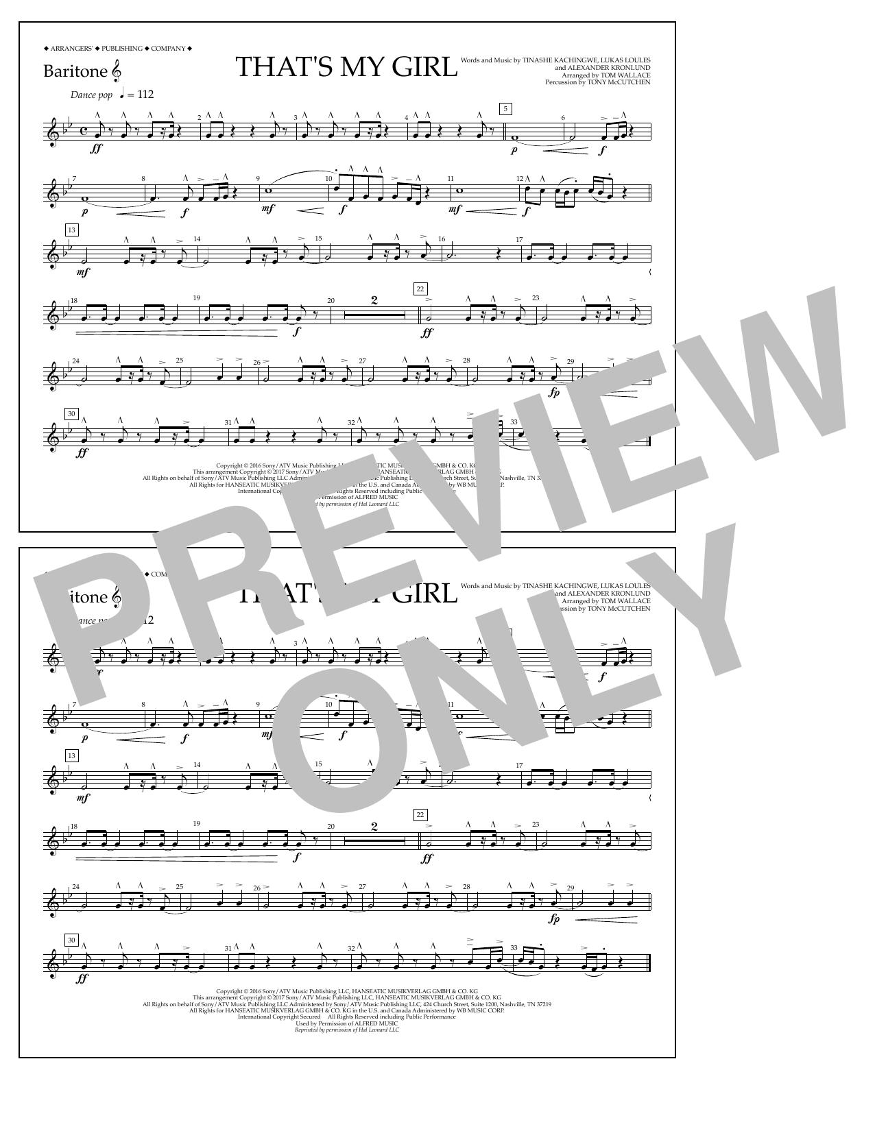 That's My Girl - Baritone T.C. Sheet Music