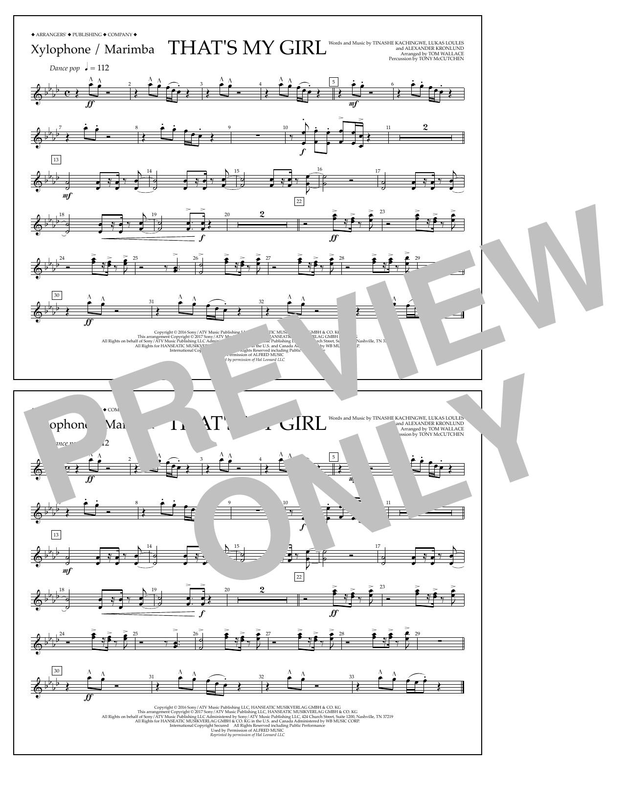 That's My Girl - Xylophone/Marimba Sheet Music