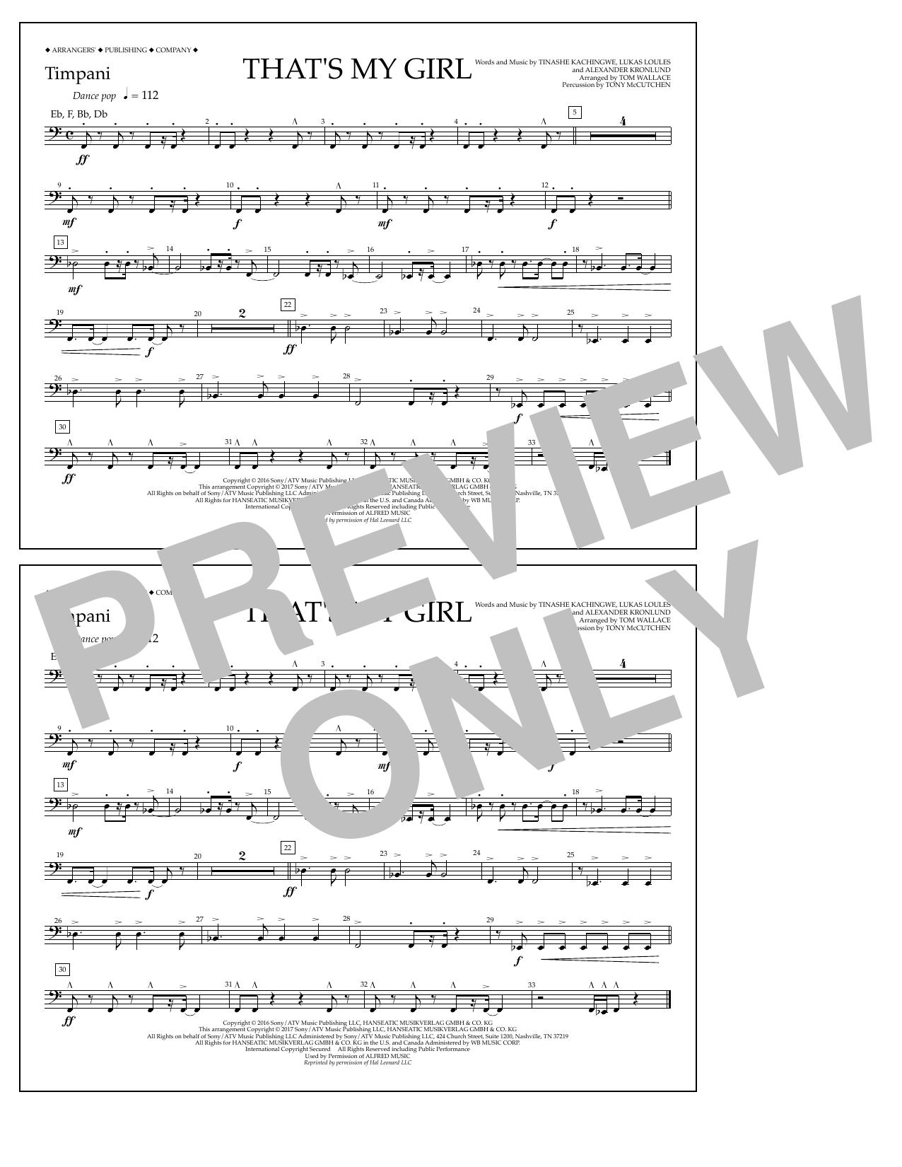 That's My Girl - Timpani Sheet Music