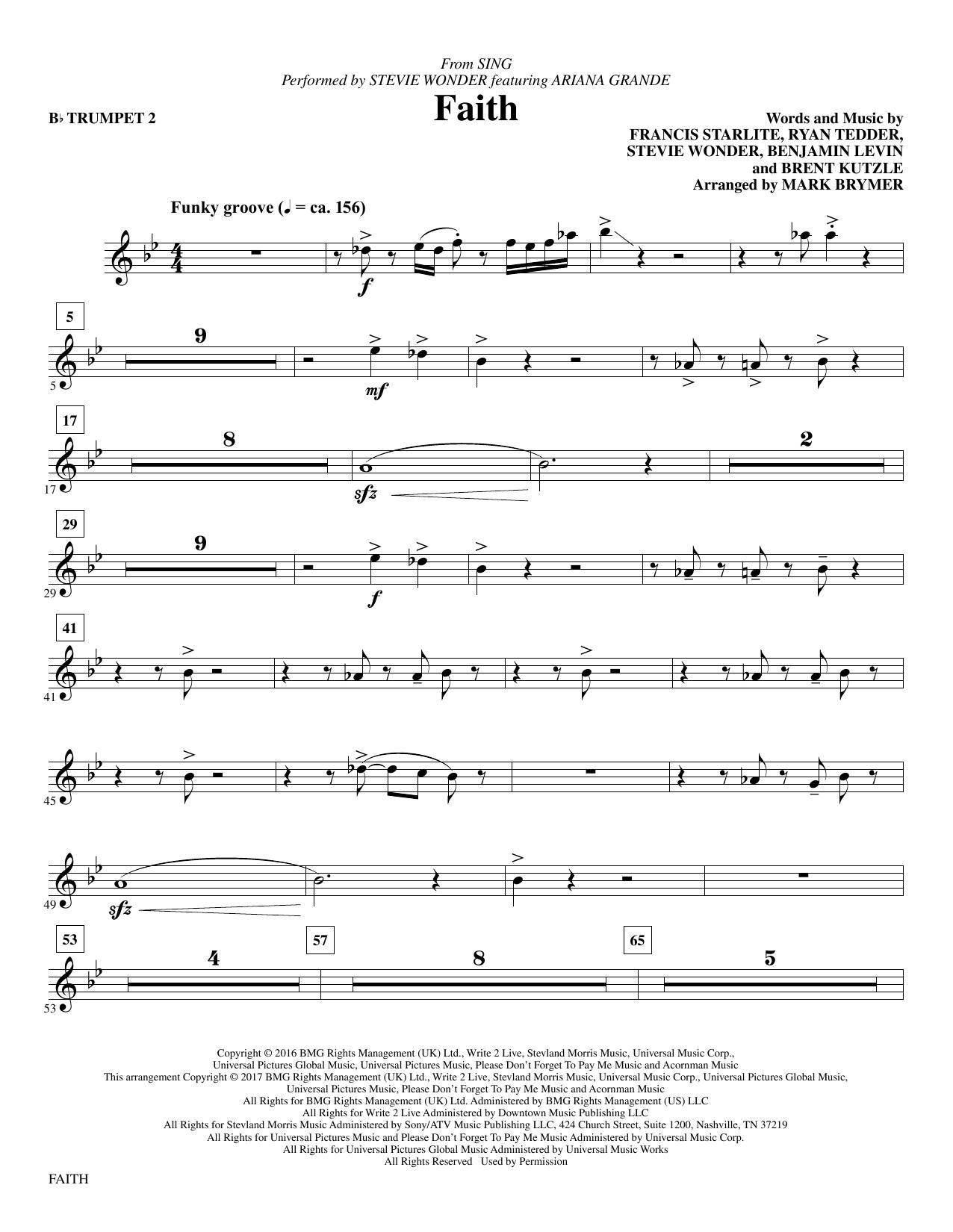 Faith - Bb Trumpet 2 Sheet Music