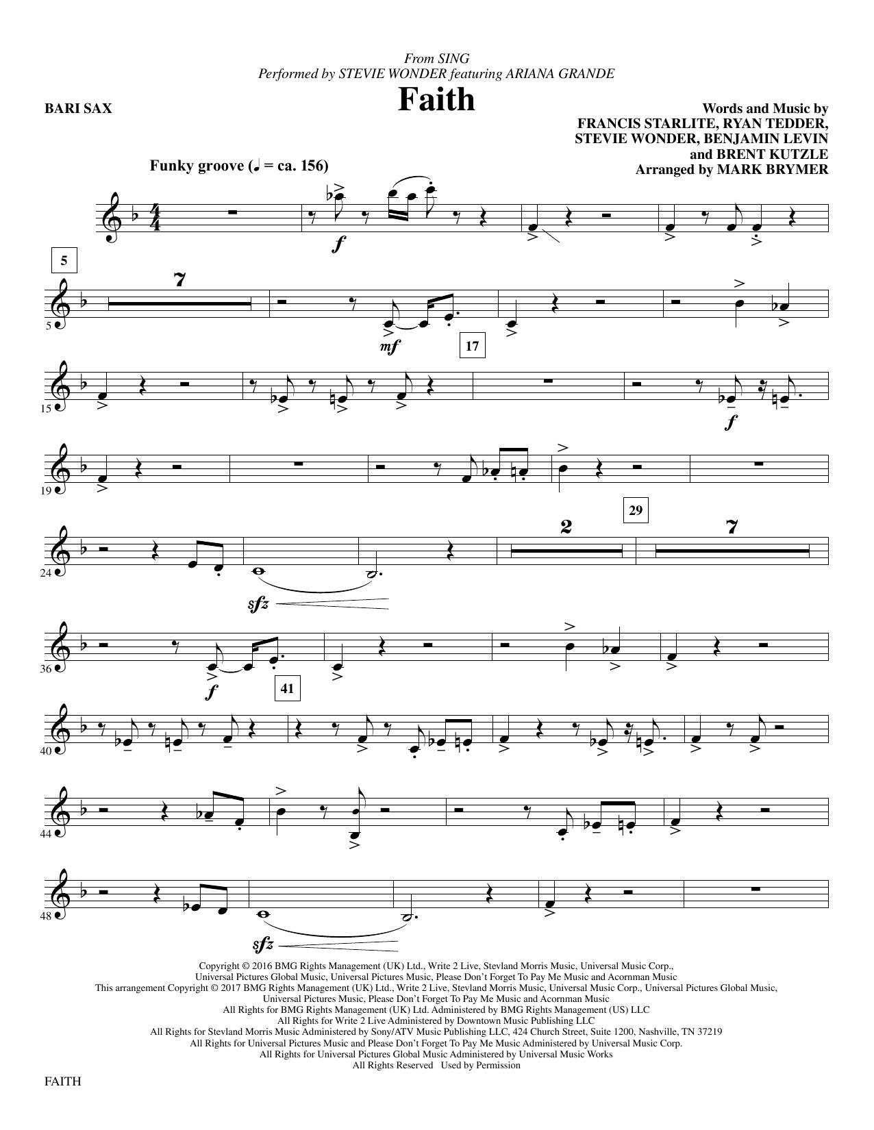 Faith - Baritone Sax Sheet Music