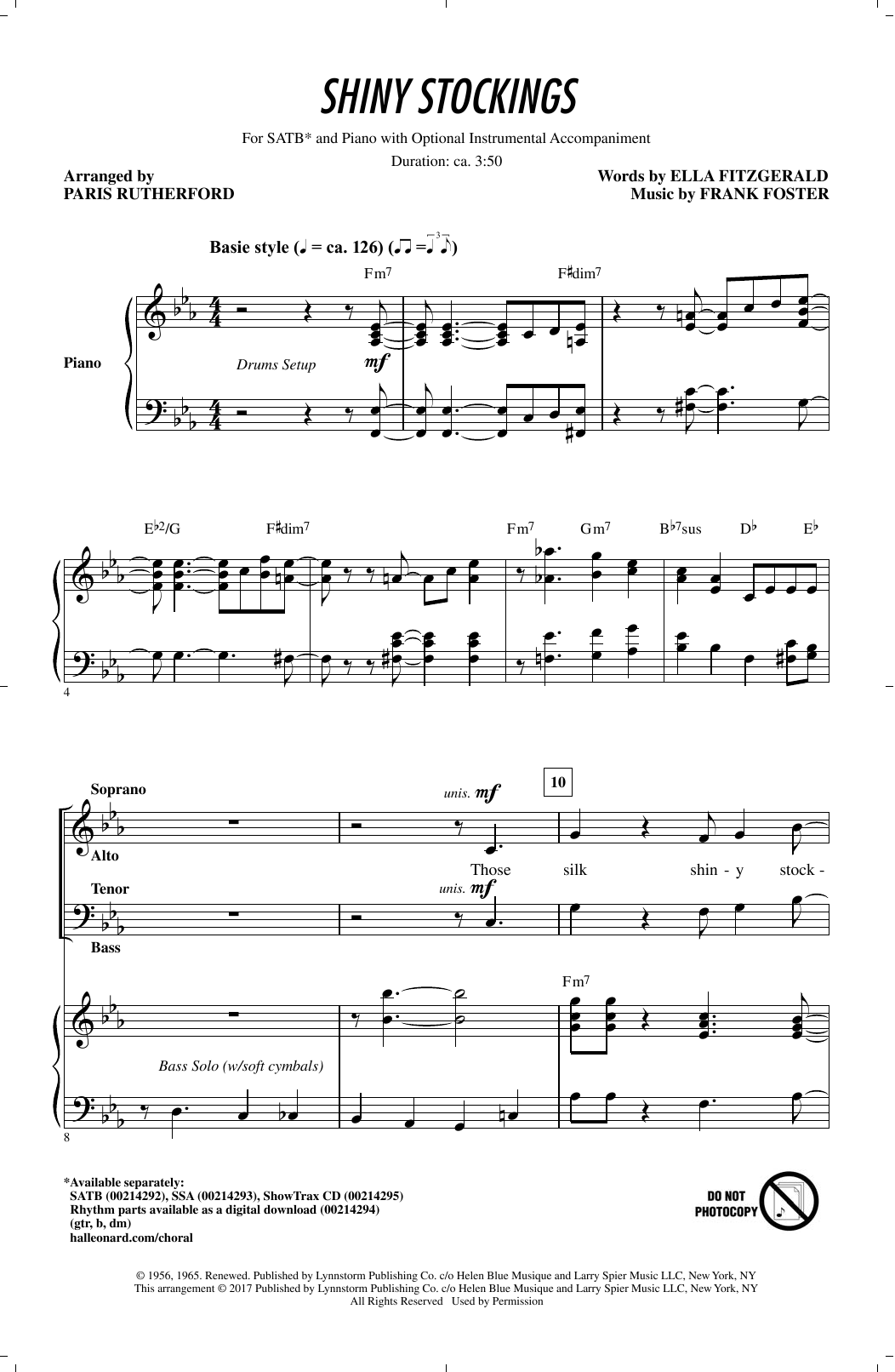 Shiny Stockings (SATB Choir)