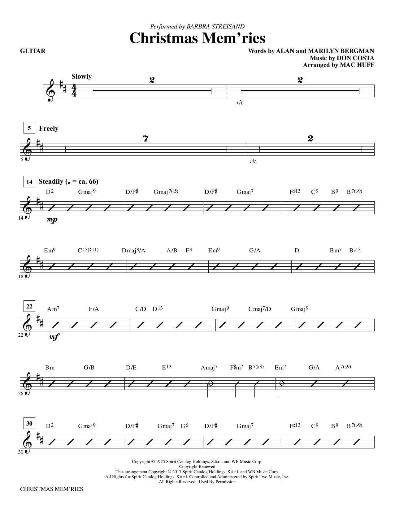 Christmas Mem'ries - Guitar (Choir Instrumental Pak)
