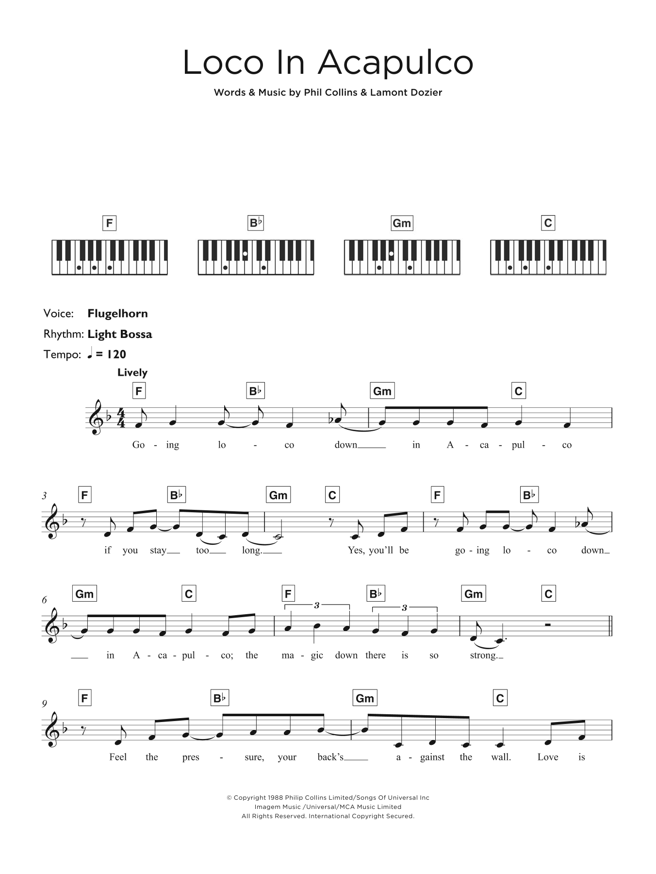 Loco In Acapulco Sheet Music