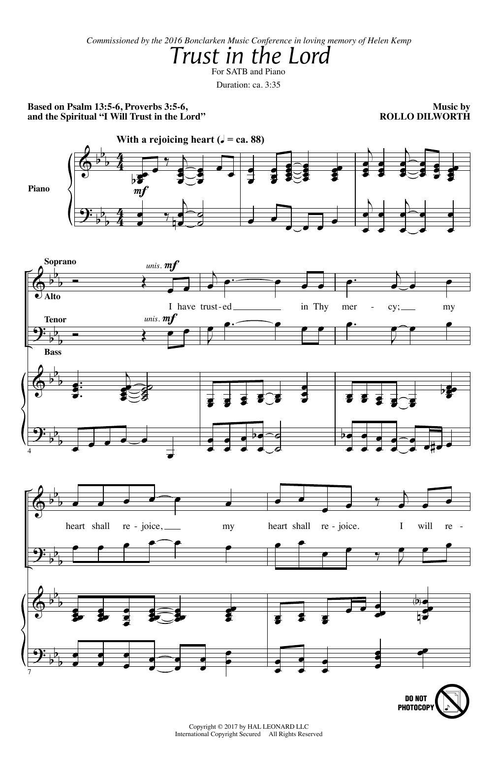 Trust In The Lord (SATB Choir)