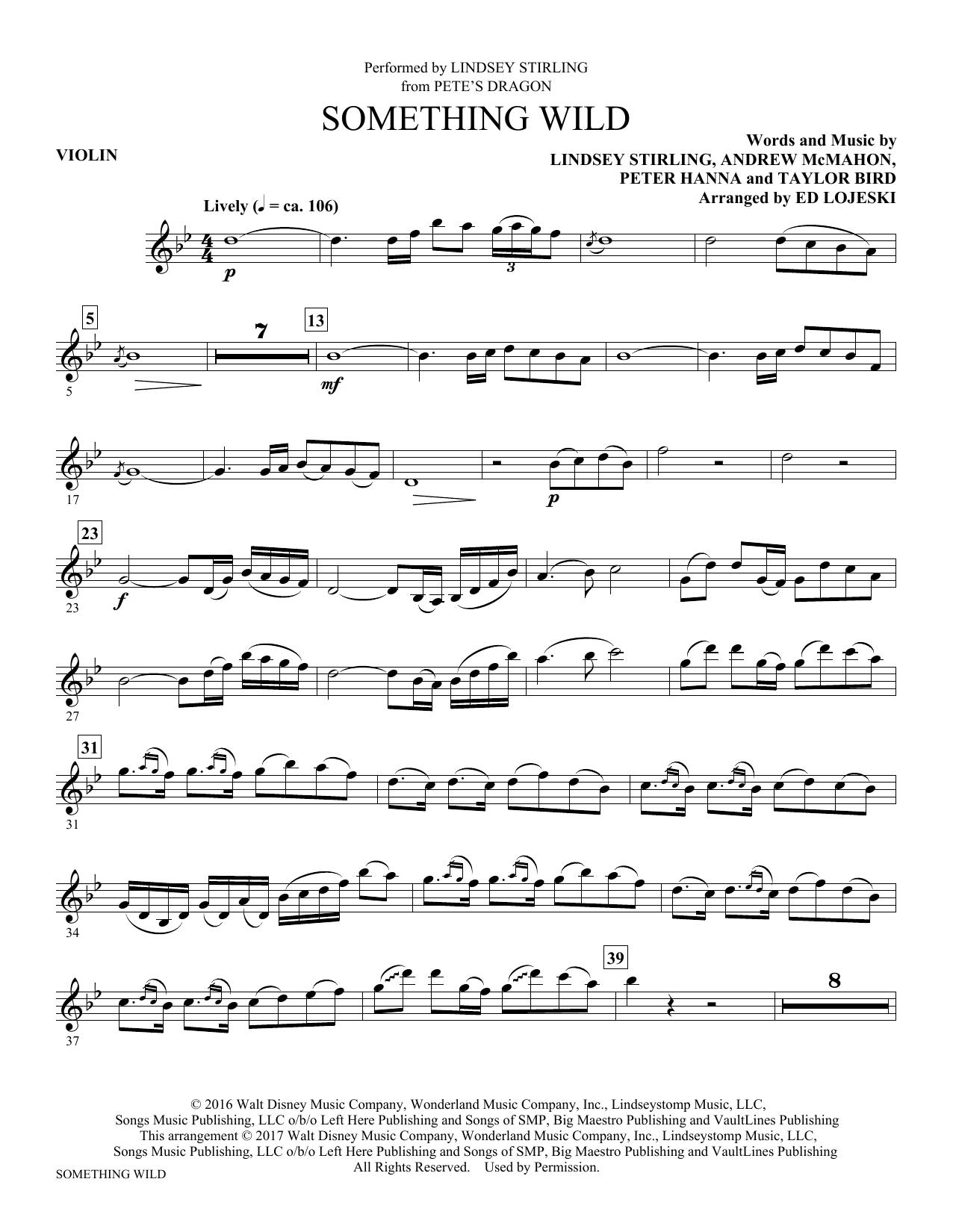 Something Wild - Violin Sheet Music