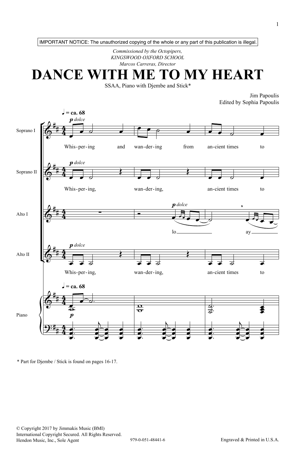 Dance With Me To My Heart (SSA Choir)