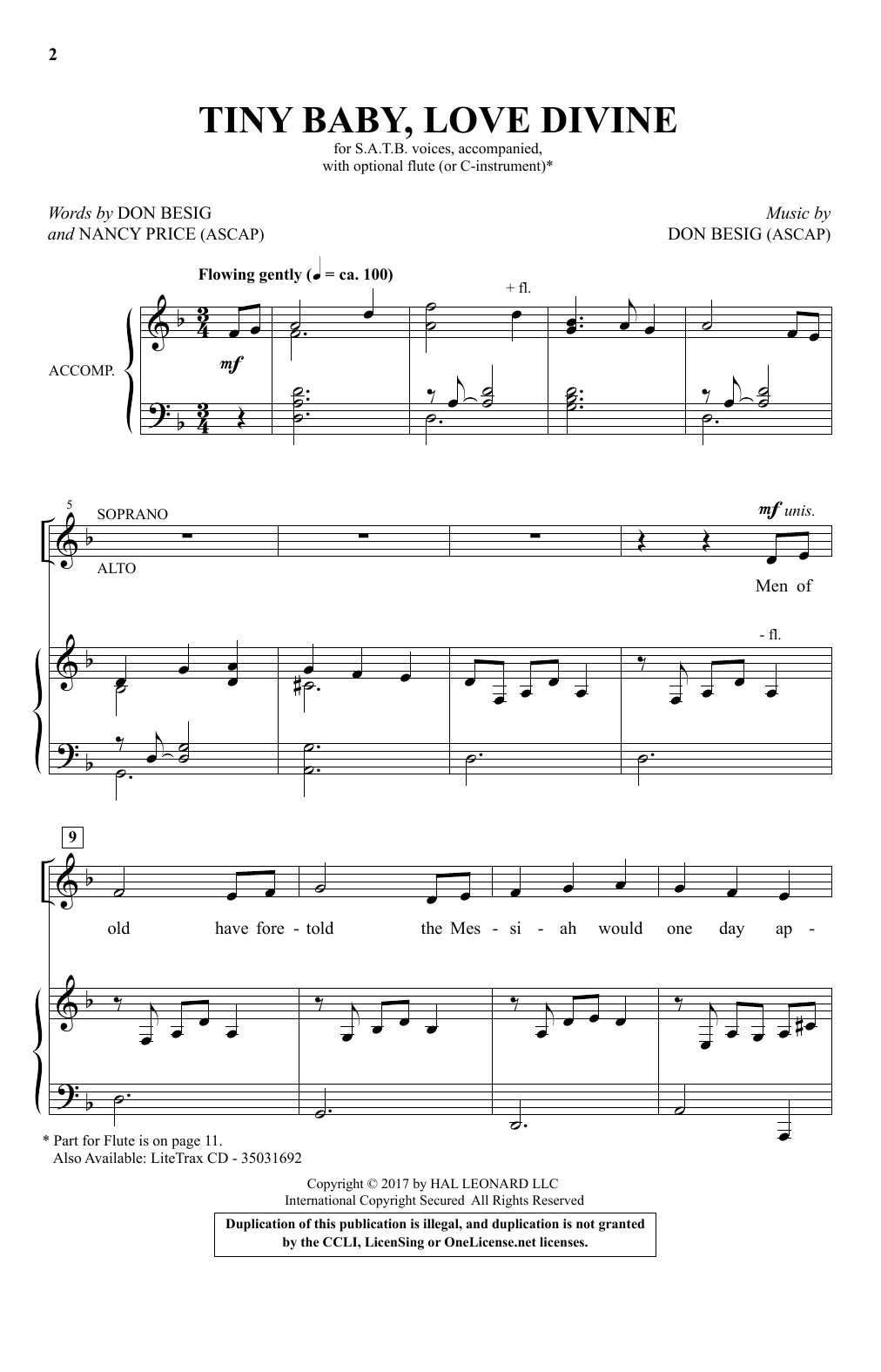 Tiny Baby, Love Divine (SATB Choir)
