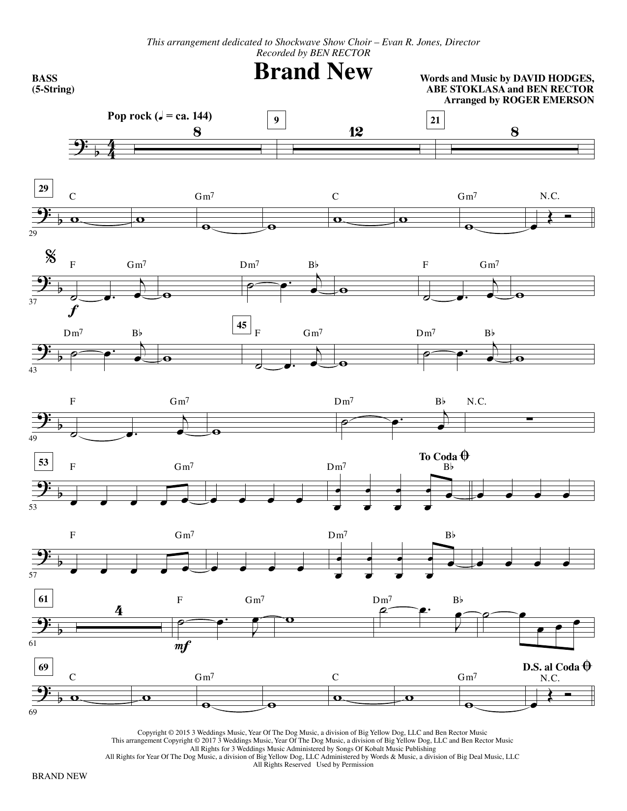 Brand New - Bass Sheet Music