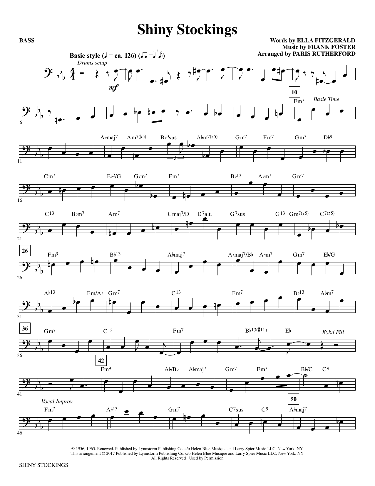 Shiny Stockings - Bass Sheet Music