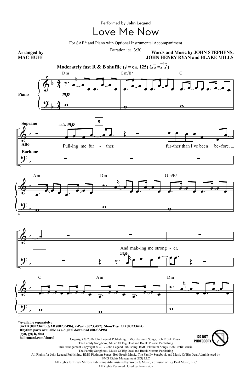 Love Me Now Sheet Music