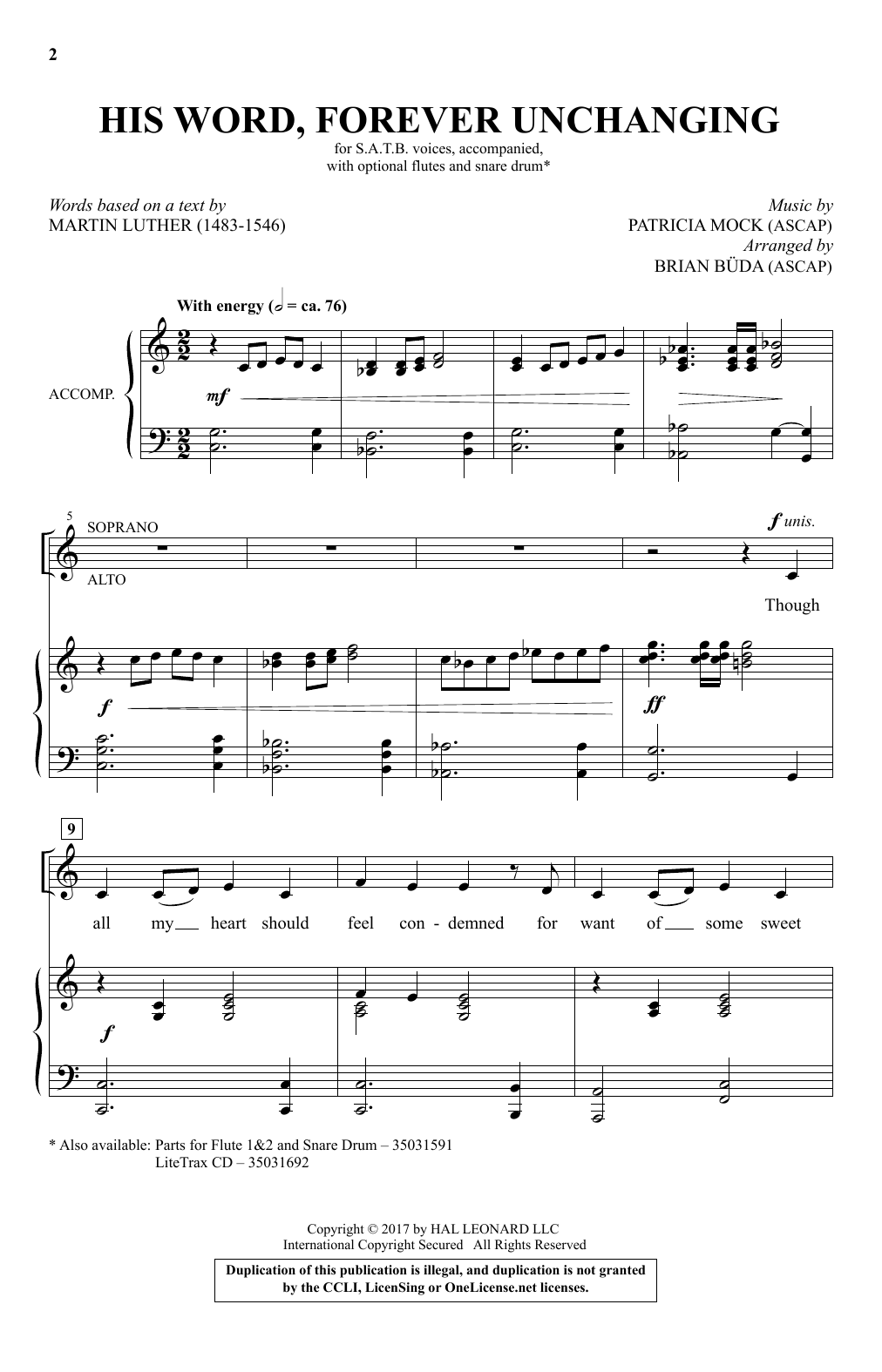His Word, Forever Unchanging Sheet Music