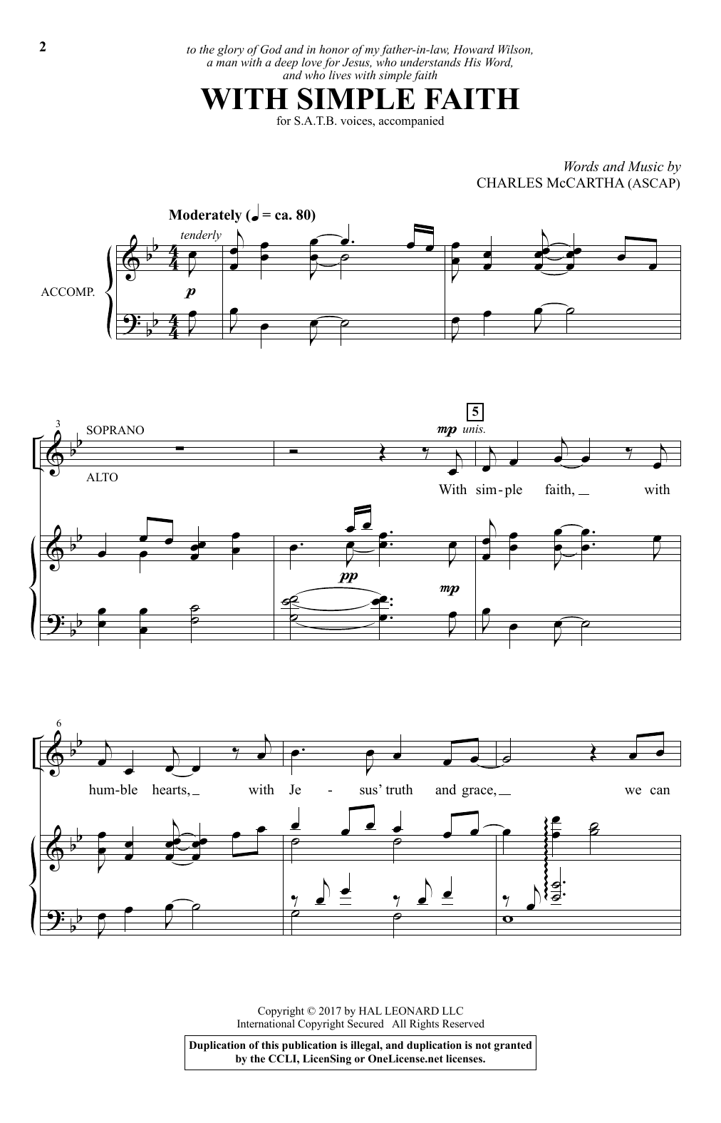 With Simple Faith (SATB Choir)