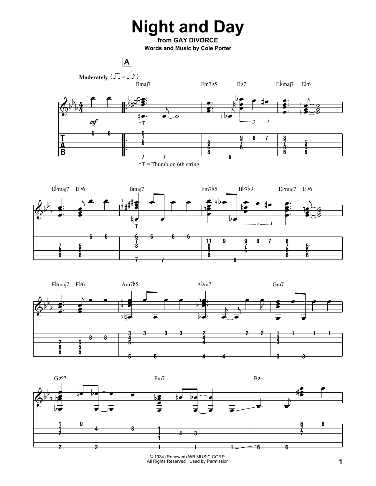 Night And Day (Solo Guitar Tab)