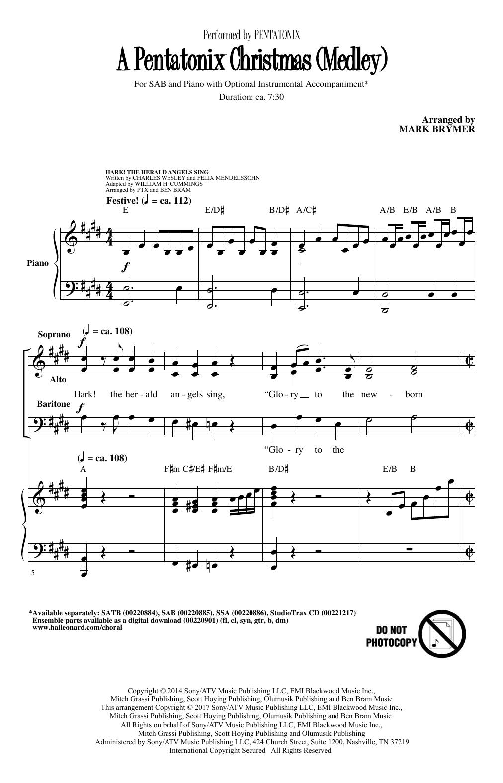 Hark! The Herald Angels Sing (arr. Mark Brymer) Sheet Music