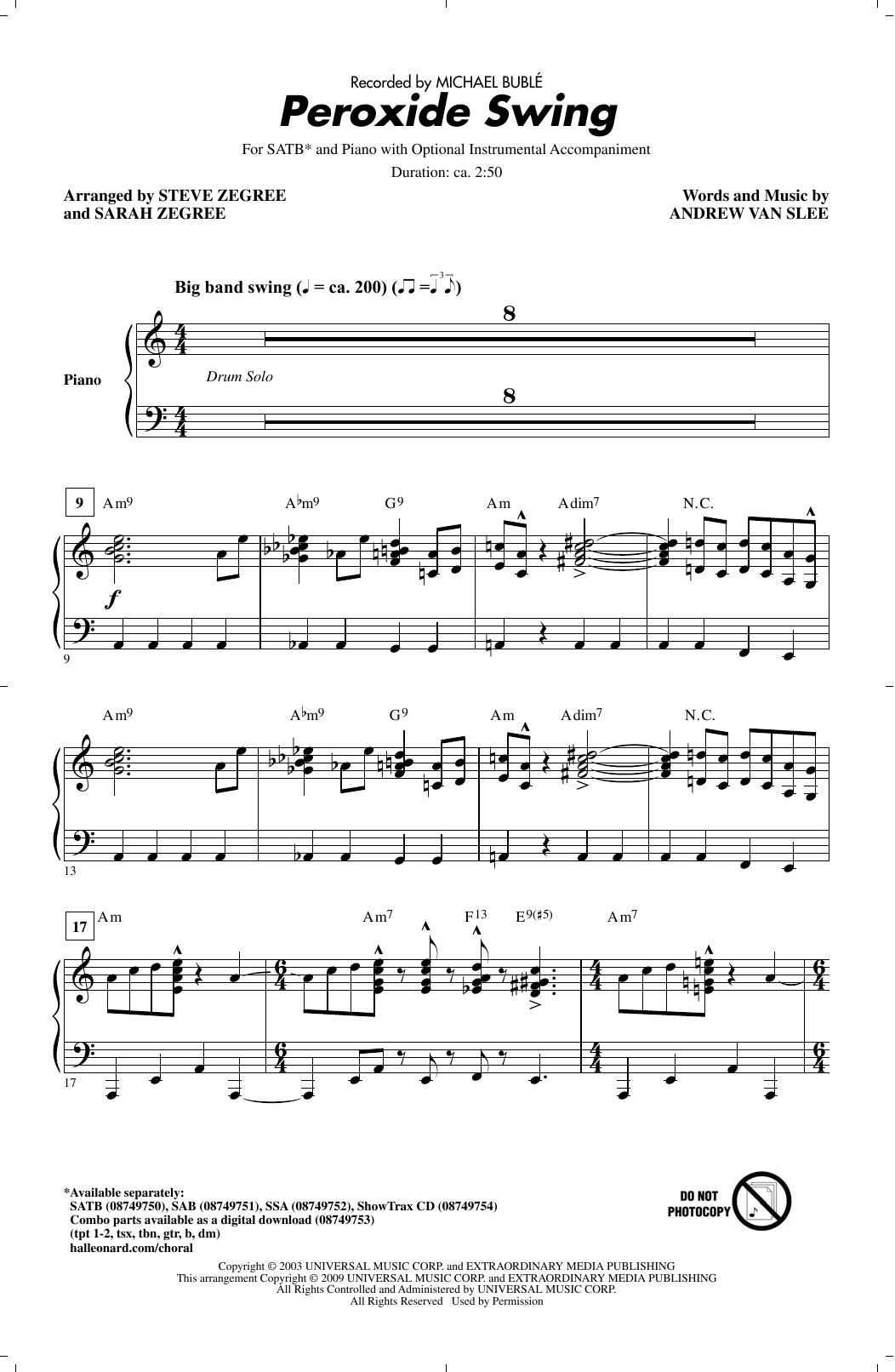 Peroxide Swing (SATB Choir)