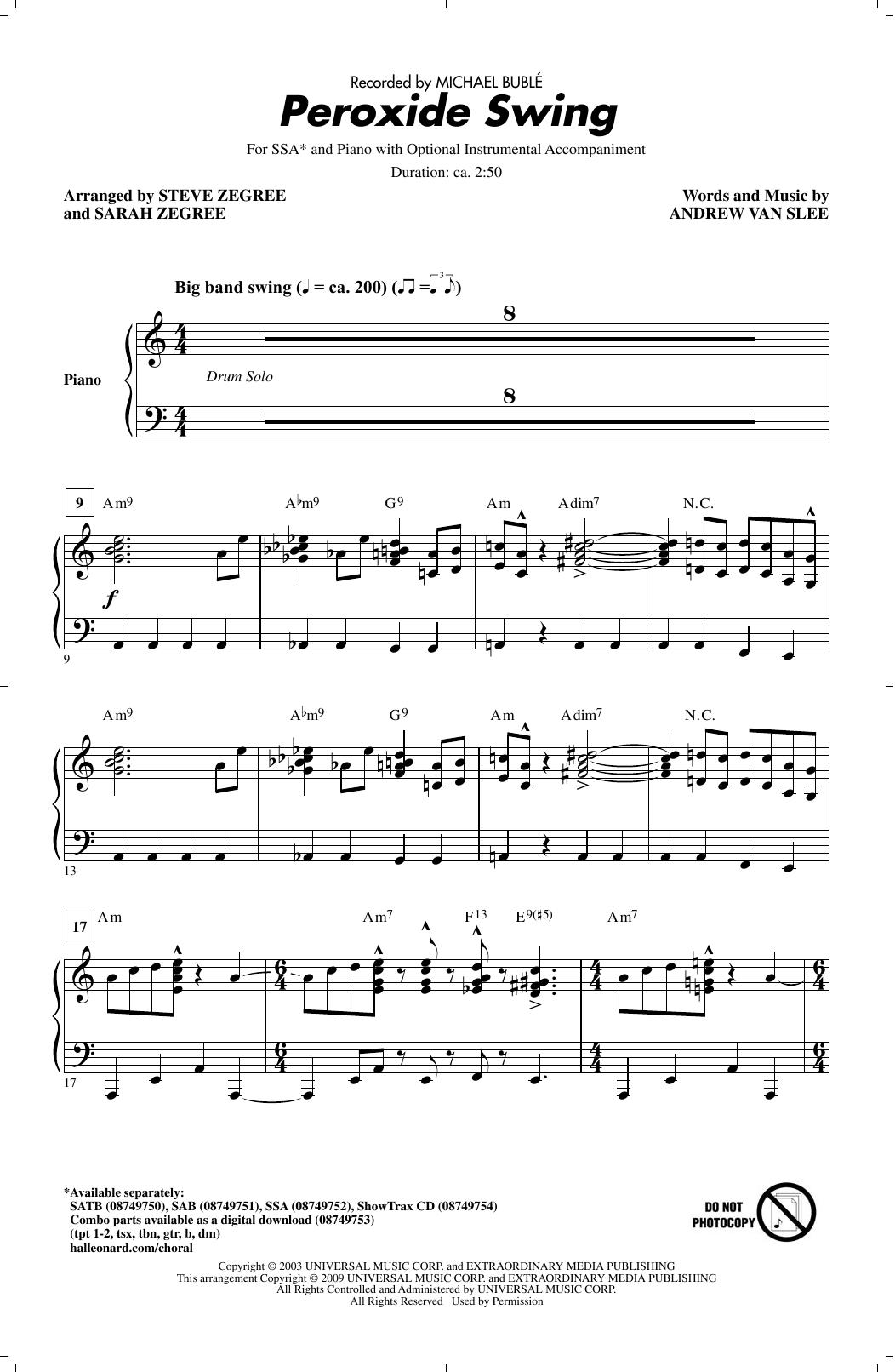 Peroxide Swing (SSA Choir)