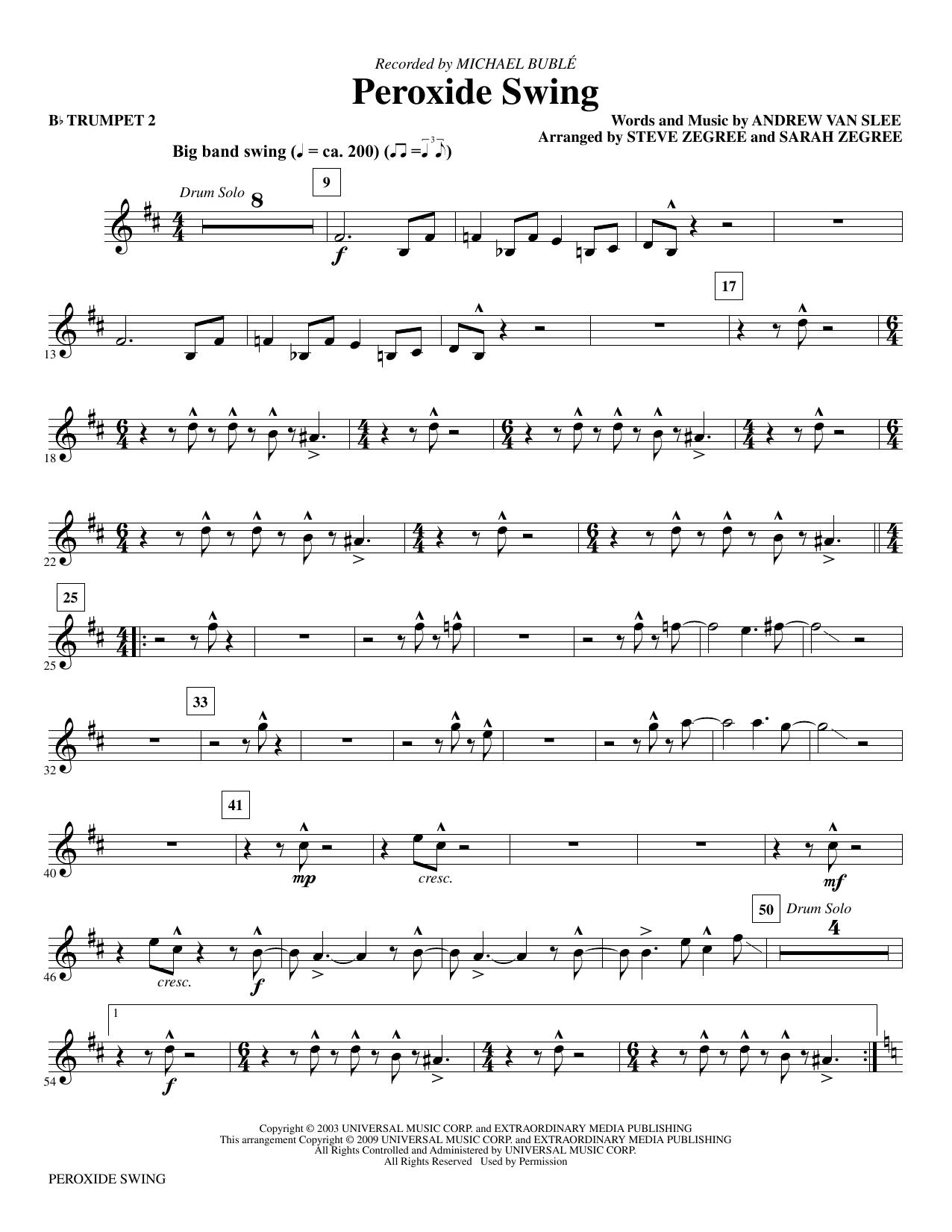 Peroxide Swing - Bb Trumpet 2 Partituras Digitales