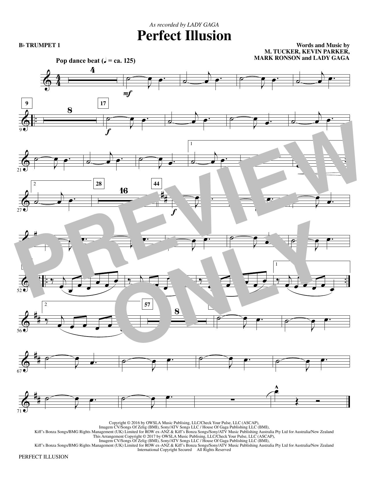 Perfect Illusion - Bb Trumpet 1 Sheet Music