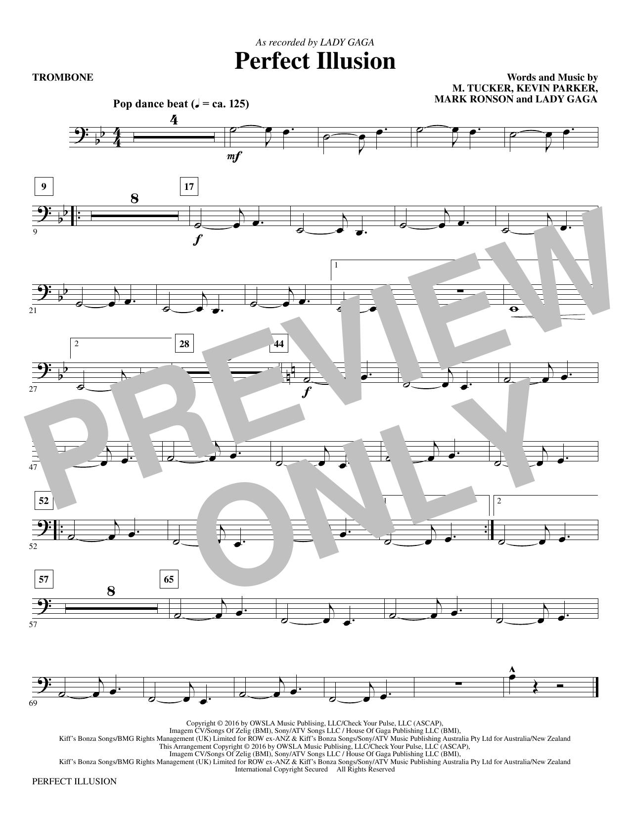 Perfect Illusion - Trombone Sheet Music