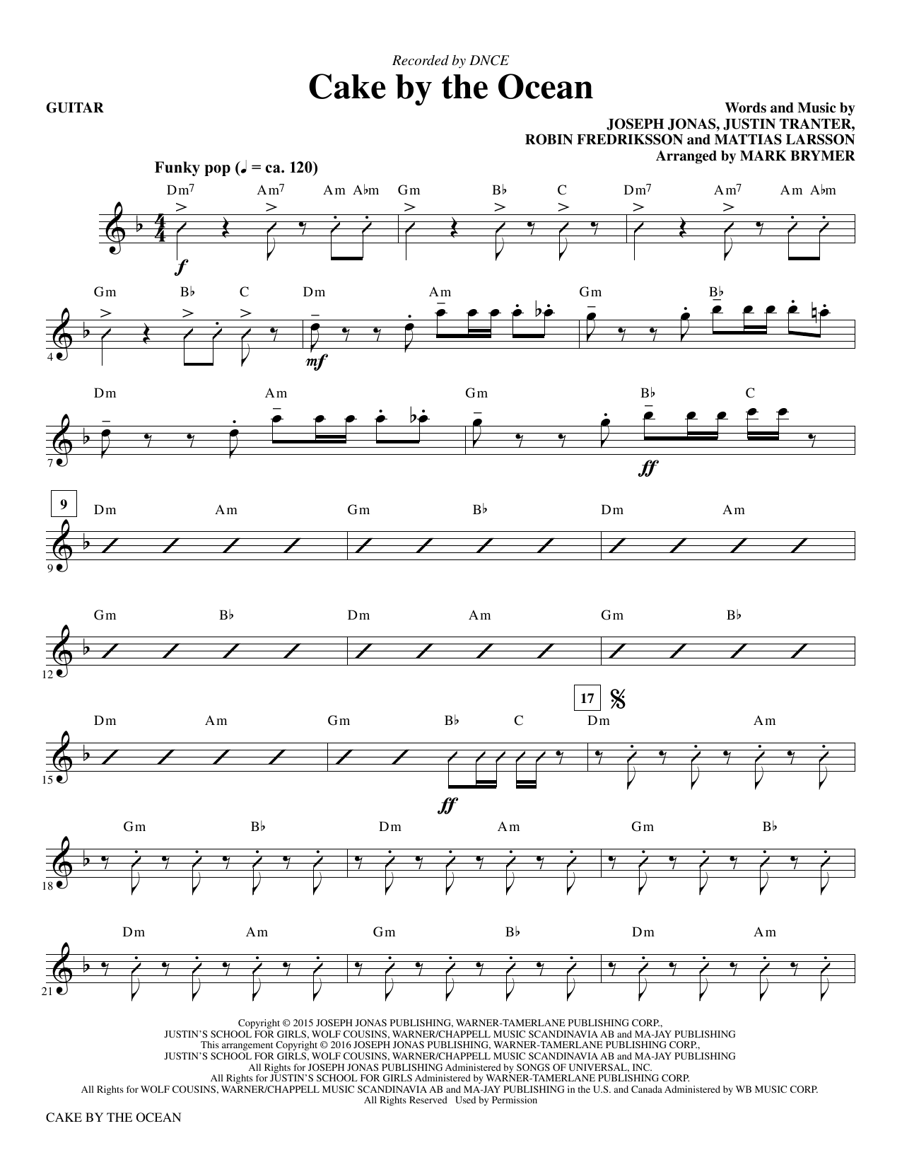 Cake by the Ocean - Guitar Sheet Music